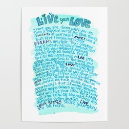 Live Your Story Poster