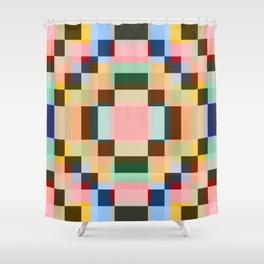 Geometric Mandala Shikome Shower Curtain