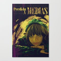 Perdida A Medias Movie Poster  Canvas Print