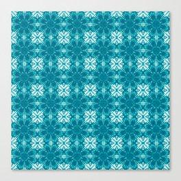 Turquoise Floral Geometric Canvas Print