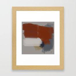 Chromed linear and traced art Framed Art Print