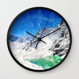 Wishing for Artic Mountains Wall Clock