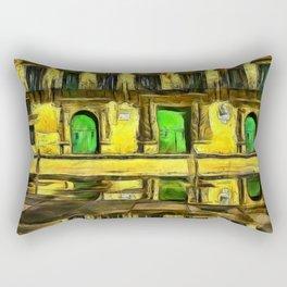 The Town Hall. (Painting) Rectangular Pillow
