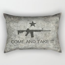 Come and Take it Flag with AR-15 Rectangular Pillow