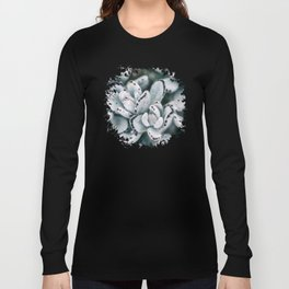 Blue soft and delicate cactus Long Sleeve T-shirt