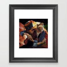 Person Pitch v2 Framed Art Print
