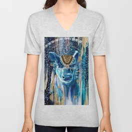Astral Moon Cow Mandala Unisex V-Neck