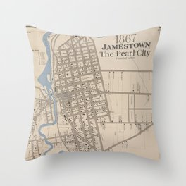 The Pearl City Throw Pillow