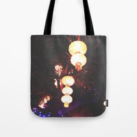 lanterns Tote Bags featuring Lanterns by Kaartik Gupta