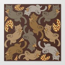 Pizza Cats Canvas Print