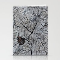 tree rings Stationery Cards featuring Rings by Elizabeth Velasquez