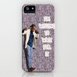 Leslie Odom Jr. (with Burr Quote) iPhone Case