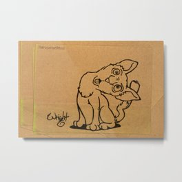 Kitten Napkin Art Metal Print