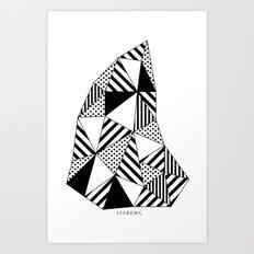 Ijsberg Art Print