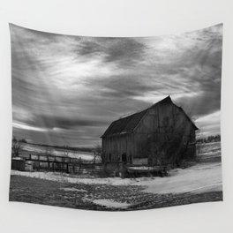 The Sun Sets on a Centralia, Iowa Farm Wall Tapestry