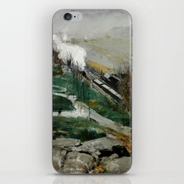 "George Wesley Bellows ""Rain on the River"" iPhone Skin"