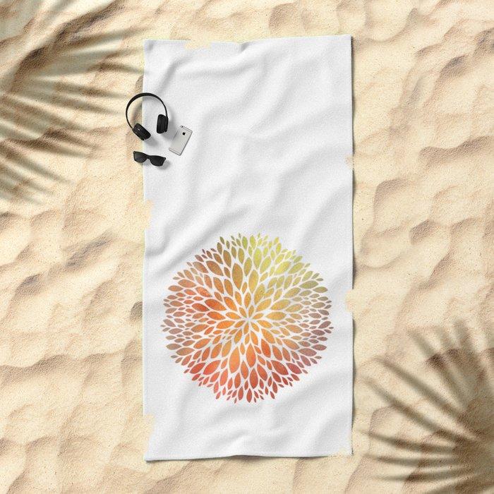 Petal Burst #7 Beach Towel