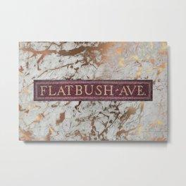 Flatbush Subway Metal Print