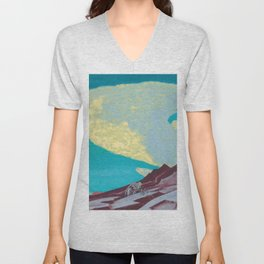 The Tablets of the Commandments, 1931 by Nicholas Roerich Unisex V-Neck