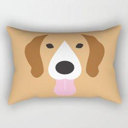 Beagle Minimalist Dog Illustration Rectangular Pillow