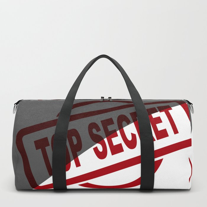 Top Secret Half Covered Ink Stamp Duffle Bag