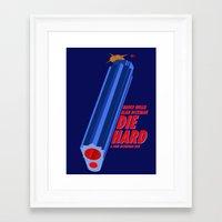 die hard Framed Art Prints featuring Die Hard by Dancing in the Graveyard