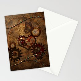 Steampunk, noble design Stationery Cards