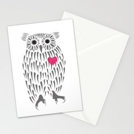 Owl Heart Stationery Cards