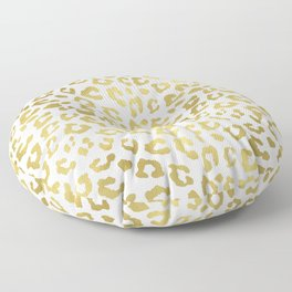 Glam Gold Cheetah Animal Print Floor Pillow