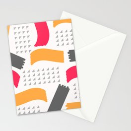Modern triangles and happy colors Stationery Cards