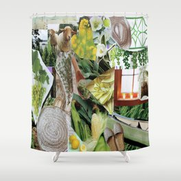 Collage - Feeling Green Shower Curtain