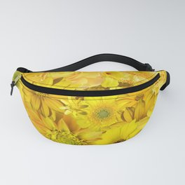 Yellow Rose Bouquet with Gerbera Daisy Flowers Fanny Pack