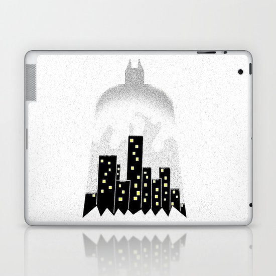 There, in the shadows!  Laptop & iPad Skin