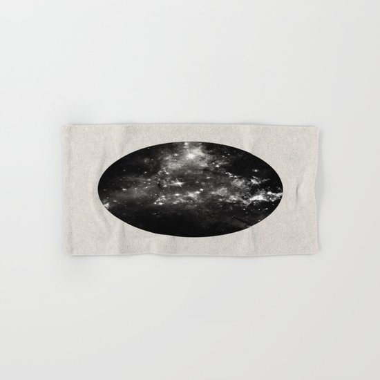 God's Window - Black And White Space Painting Hand & Bath Towel