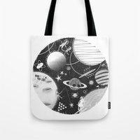 sport Tote Bags featuring SPACE & SPORT by Kiley Victoria