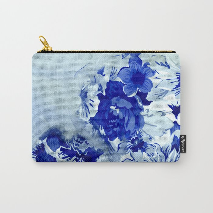 blue balloons floral Carry-All Pouch
