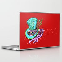 mad hatter Laptop & iPad Skins featuring Mad Hatter Hat by Art by Mary C.
