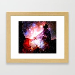 Journey into the Cosmos Framed Art Print