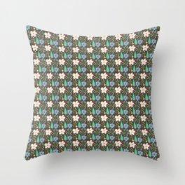 Fun Floral Pattern Throw Pillow