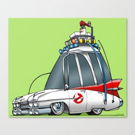Ghostbusters Ecto 1 Canvas Print