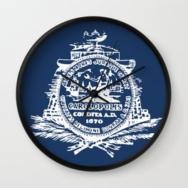 flag of Charleston Wall Clock