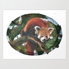 Green Panda (2010) Art Print