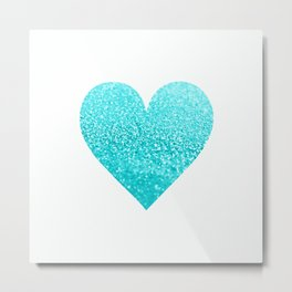 AQUA HEART Metal Print