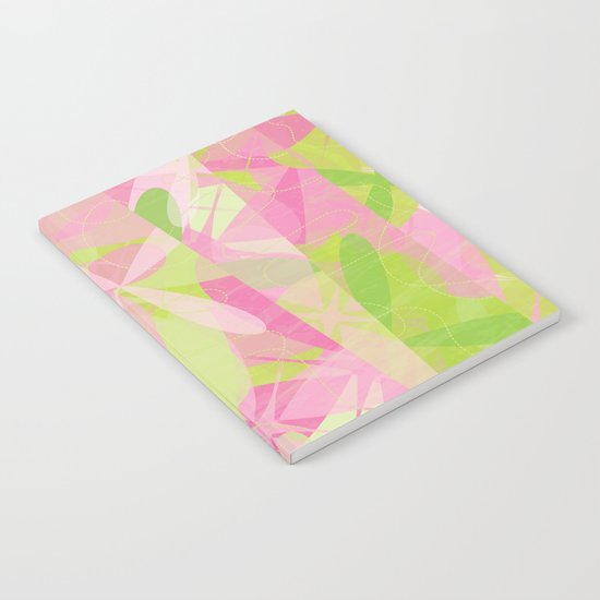 Abstract pattern - Spring Garden Notebook
