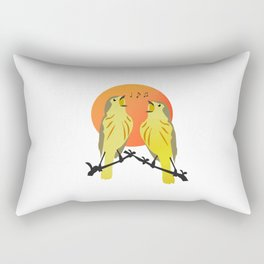 bird singing Rectangular Pillow