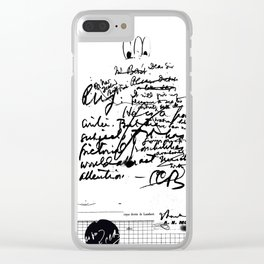 mess Clear iPhone Case