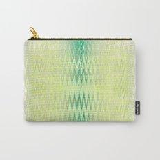 Textile-aqua & lemon Carry-All Pouch