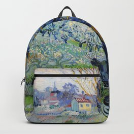"Vincent Van Gogh ""View of Arles, Flowering Orchards"" Backpack"