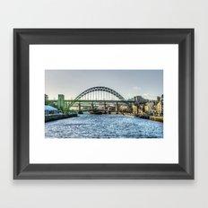 Newcastle Tyne Bridges Framed Art Print