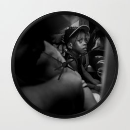 Boy Staring Wall Clock